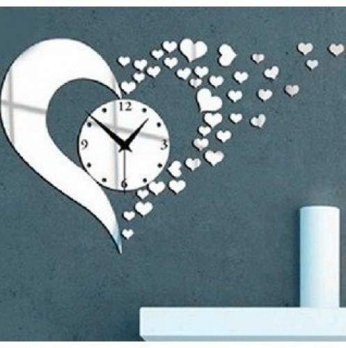 (3D Acrylic Mirror Wall Sticker Clock Decoration Decor)