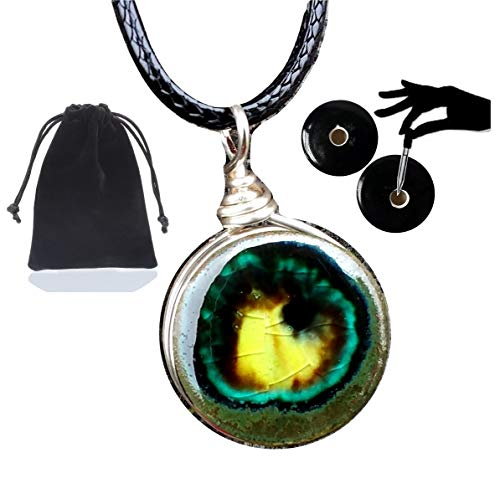 (Earth Jewelry Yellow Citrine Quartz Glass Geode .925 Silver Essential Oil Diffuser Aromatherapy Pendant Necklace 18