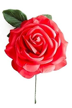 La Señorita Rose / Flores rojo vestido Flamenco