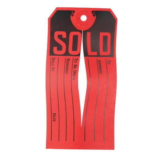 Avery Sold Tags, Knife Slit,  4.75 x 2.375 Inches, Pack of 500 (15161)
