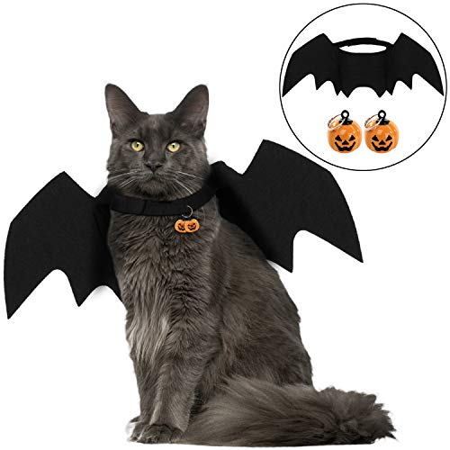 Maltese Halloween Costumes (Legendog Cat Costume Halloween Bat Wings Pet Costumes Pet Apparel for Small Dogs and Cats (Bat)