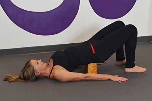 "YogaAccessories Sturdy New Zealand Pine Wood Yoga Block - 4"" x 6"" x 9"""