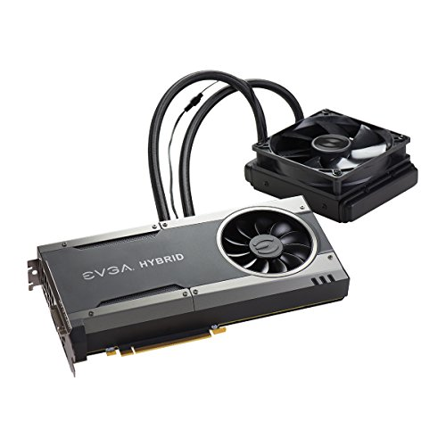 EVGA GeForce GTX 1080 FTW HYBRID GAMING, 8GB GDDR5X, RGB LED, All-In-One Watercooling with 10CM FAN, 10 Power Phases, Double BIOS, DX12 OSD Support (PXOC) 08G-P4-6288-KR by EVGA (Image #3)