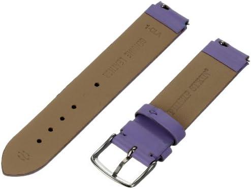 Philip Stein 1-CLA 18mm Leather Calfskin Purple Watch Strap