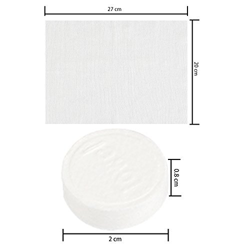 Coobey 150 Pieces Compressed Towels Portable Mini Compressed Coin Tissue for Travel Sports, Beauty Salon or Home Hand Wipes