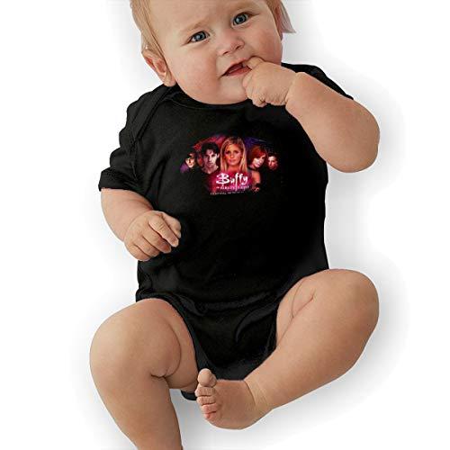 JosephG Toddler Buffy The Vampire Slayer Bodysuit Outfits Black 6M -