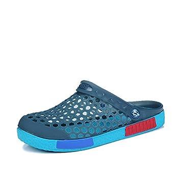 xing lin Sandalias para Hombre de Color Sólido, Zapatillas Negras Macho, Zapatos de Nido