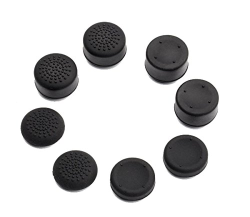 (VAKABOX 8PCS Thumbstick Thumb Rubber Cap Silicone Cover for Playstation 4 3 XBOX360 Wireless Controller Joystick)