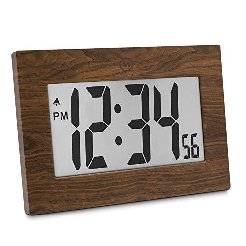 Wood Clock Tabletop (Marathon CL030064WD 9
