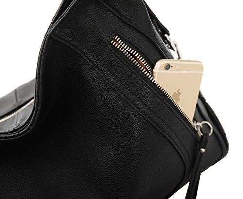 Shoulder Bag Satchel Top Crossbody Tote Handle Clearance On Bk Women Leather 005 Handbags Kenoor Bags ZBq07
