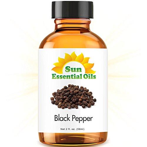 Black Pepper (2 fl oz) Best Essential Oil - 2 ounces (59ml) (Pepper Oil)