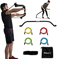 Gorilla Bow Portable Home Gym Resistance Bands and Bar System for Travel, Fitness, Weightlifting and Exercise