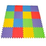Toys : 16 X-Large Eva Foam Soft Tile Mat Safe Playmat ideal Gift Toy Child & Baby Room, Interlocking Puzzle Multi Color flooring Exercise Yoga Pilates Toddler infant Game Play Area Yard Superyard Carpet
