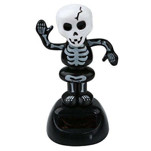 Happy Halloween,Elevin(TM)2017 Solar Toy Dancing Skeleton Pumpkin for Halloween Party Games Nightmare Swinging Animated Bobble Head Ghost Dancer Toy Home Car Decor Gift (A) -