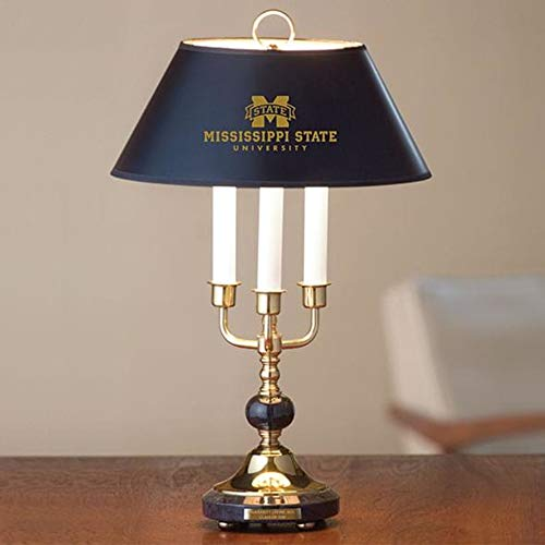M. LA HART Mississippi State Lamp in Brass & Marble ()