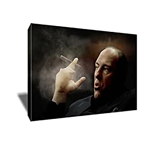 TONY SOPRANO Cigar Painting Poster Artwork on CANVAS ART Print (24x36 inches)