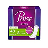 Poise Incontinence Panty Liners, Very Light Absorbency, 48 Count