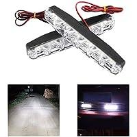 6 LED Auto Tagfahrlicht Auto-Styling DRL Auto Tagfahrlicht Auto Nebelscheinwerfer Super Helle wasserdichte DC 12 V 2 St/ücke YFMXO Tagfahrlicht