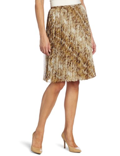 Jones New York Women's Pleated Skirt, Rum Multi, 8 (New York Pleated Skirt)