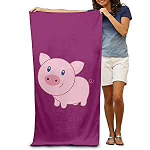Cute Cartoon Pig Beach Towel Beach Blanket For Adult -- Cool Graphic Travel Bath Towel -- Size:80cm*130cm -- Microfiber:Super Absorbent -- Thin,lightweight,quick Dry,convenient