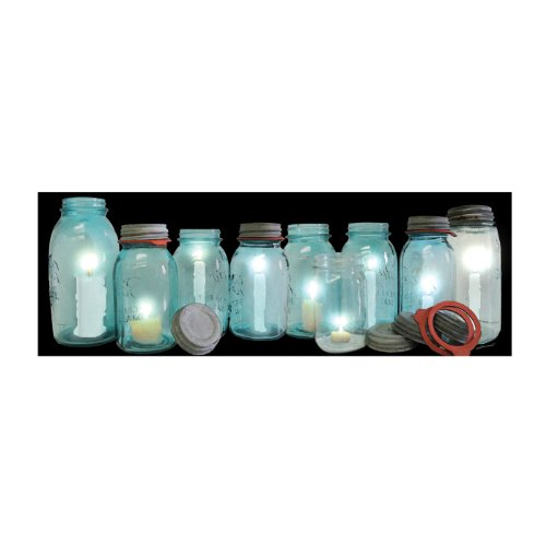 Ohio Wholesale Radiance Lighted Row of Canning Jars Wall Art