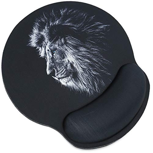 RICHEN Memory Foam Mouse Pad with Wrist Support,Ergonomic Mouse Pad with Wrist Rest,Non-Slip Rubber Base for Computer Laptop & Mac,Lightweight Rest for Home,Office & Travel ()