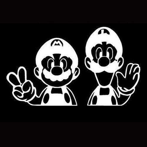 Super Mario Bros Mario Luigi Vinyl Car/Laptop/Window/Wall Decal - http://coolthings.us
