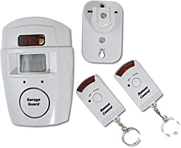 Guilty Gadgets ® - Alarma inalámbrica con sensor de movimiento y dos mandos a distancia(