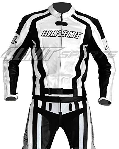 Motorrad Lederkombi 4LIMIT Sports LAGUNA SECA Motorradkombi Zweiteiler weiß-schwarz
