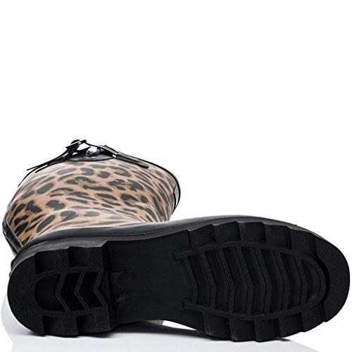 Regenstiefel Leopard Fest Verstellbare Gummistiefel Damen Schnalle Gummi Flache TRISHA SPYLOVEBUY 48xEq0nXZn