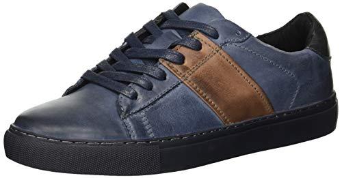 Kenneth Cole REACTION Men's BLAYDE Sneaker Navy/Brown, 9.5 M US