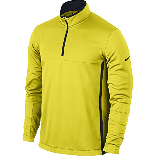 NIKE Men's Therma-FIT Cover-Up Jacket, Electrolime/Black/Anthracite, Small