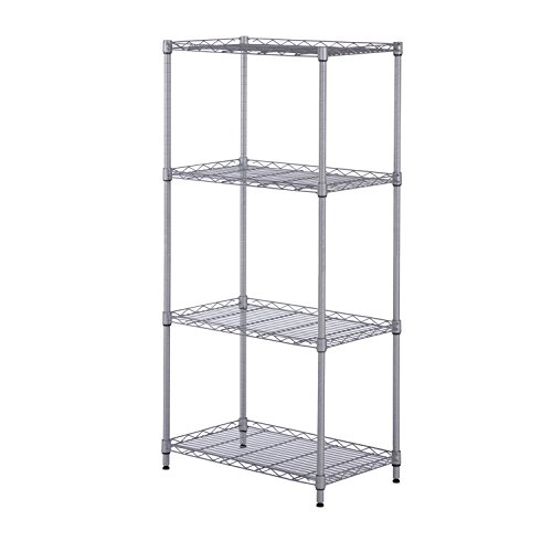 SINGAYE Storage Shelves Rack Adjustable Unit shelving Silver 4 Shelf Mesh Shelving Unit Metal Storage Shelves for Pantry Closet Kitchen Laundry 14