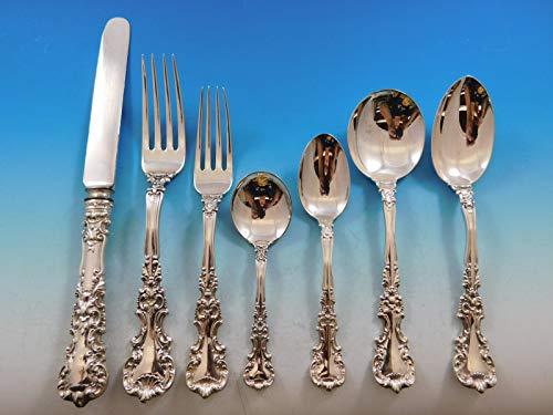 (Avalon by International Sterling Silver Flatware Set 12 Service 84 Pcs Dinner)