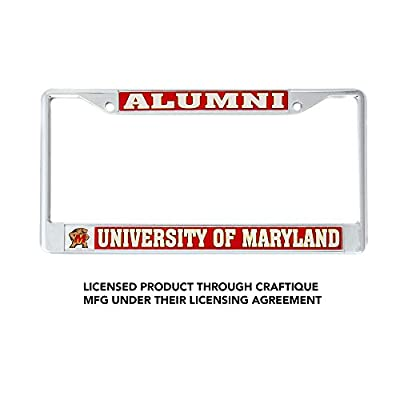 Desert Cactus University of Maryland Terrapins NCAA Metal License Plate Frame for Front Back of Car Officially Licensed (Alumni): Automotive