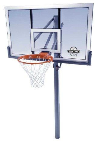 Lifetime 78888 In-Ground Power Lift Backboard Basketball System, 54-Inch