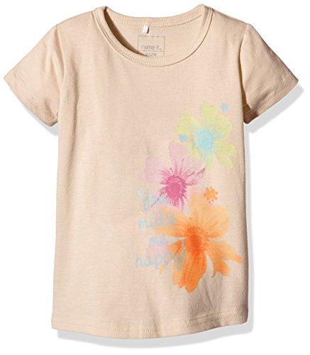NAME IT Mädchen T-Shirt Nitvaiken M SS Top 4 216, Orange (Bisque Bisque), 80 (Herstellergröße: 80)