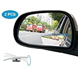 Blind Spot Mirror, Wide Angle Car Mirror Adjustable Convex Rear View Mirror Frameless Auto Side Mirror for All Universal Vehicles Car Stick on Design 2 Pack