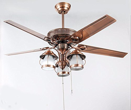 XHOPOS HOME Ceiling Fan Modern Ceiling Lamps LED Living Room Restaurant Bedroom Decorated (Diameter 126Cm)Iron Art Remote Control Room lighting