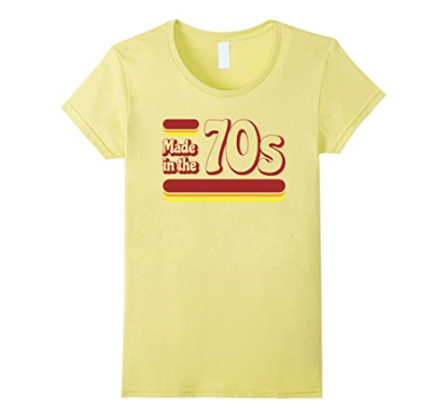 Womens Made in the 70s Shirt - Vintage 70s Retro T-shirt Small (Women In The 70s)
