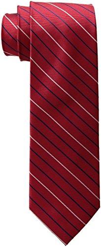 Tommy Hilfiger Men's Thin Stripe Tie, Red, One Size