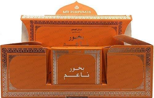 ARABIYAT Bakhoor Naaim Incense Arabian Bukhoor - Use on Charcoal Incense Burner or Electric Incense Burner (12 40gm Packs)