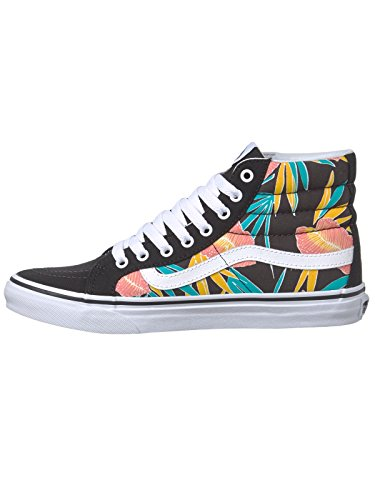 Baskets montantes Vans SK8-Slim Tropical Leaves-Noir