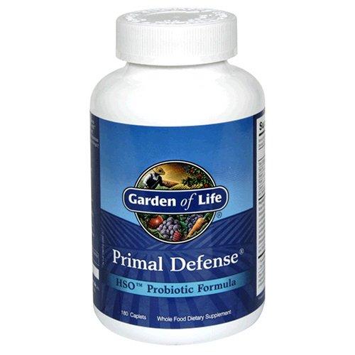 Garden of Life Primal Defense HSO Probiotics Formula, Caplets, 180-Count Bottle