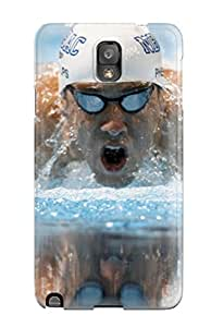New Style Excellent Galaxy Note 3 Case Tpu Cover Back Skin Protector Michael Phelps Poster