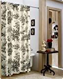 Black Toile Shower Curtain Thomasville Bouvier Shower Curtain