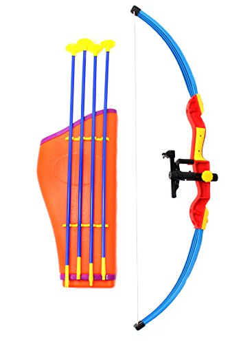 AMPERSAND SHOPS Archery Bow and Arrow Toy Set with (Archery Costumes For Halloween)