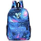 BTS Backpack Galaxy Stars Printing Canvas Bag Rucksack Girls School Bag Travel Bags