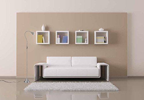 HomeFocus LED Floor Lamp Light,Living Room Floor Lamp Light,Bedside Floor Lamp Light,Metal, Satin Nickel,Flexible Gooseneck,LED4.2-5W,3000K Warm White,Top Quality,Energy Efficient,Super Bright. by HomeFocus (Image #7)