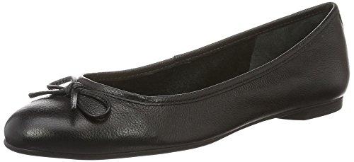 Buffalo London Zs 2590-16 Vegetal Leather, Bailarinas para Mujer Negro (BLACK 01)